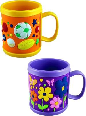 Radius Flower and balls cartoon designed embossed mugs Plastic Mug