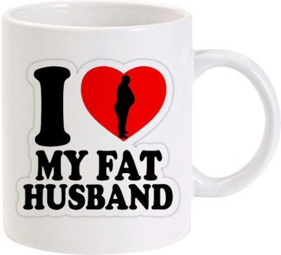 Lolprint I Love my Fat Husband Ceramic Mug