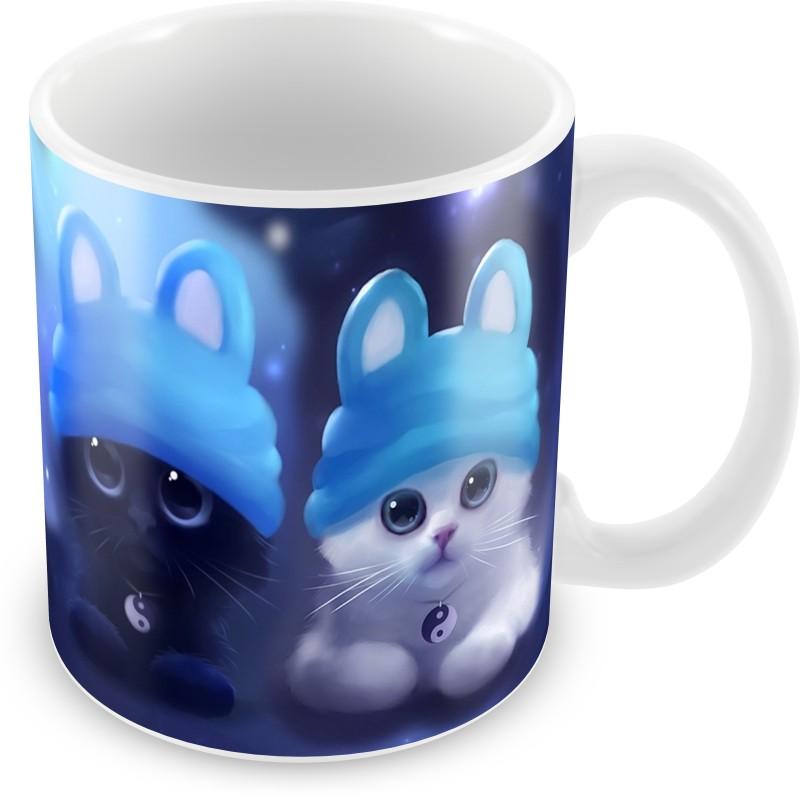 Prinzox Innocent Baby Cats Ceramic Mug(325 ml)