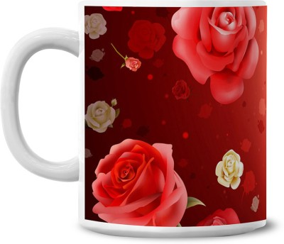 Lovely Collection Red Roses Ceramic Mug