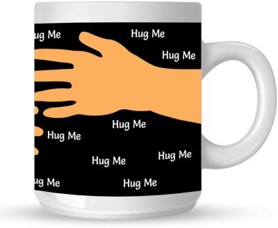 Huppme Hug Me White  Ceramic Mug