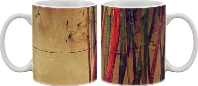 Artifa Colourful Bamboo Porcelain, Ceramic Mug