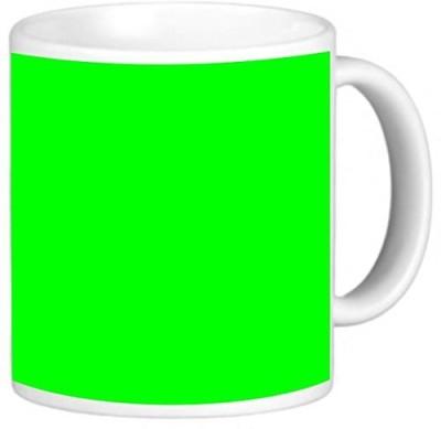 Rikki Knight LLC Knight Photo Quality Ceramic Coffee , 11 oz, Neon Green Color Design Ceramic Mug