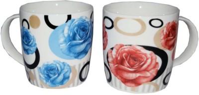SNYTER Blue & Red O-Rose Set Ceramic Mug