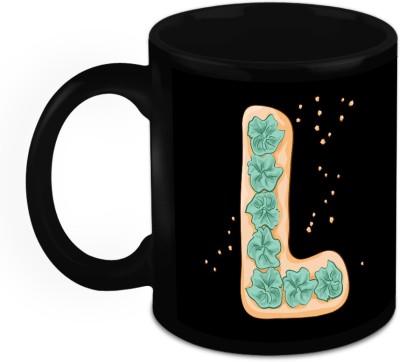 HomeSoGood One Of A Kind Alphabet L Ceramic Mug