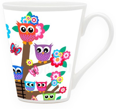 HomeSoGood Cute Owl Couples Ceramic Mug
