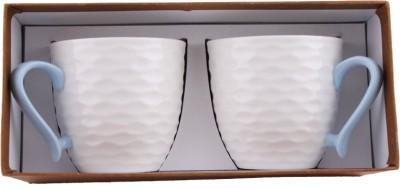 White Gold 922 Blue Porcelain Mug