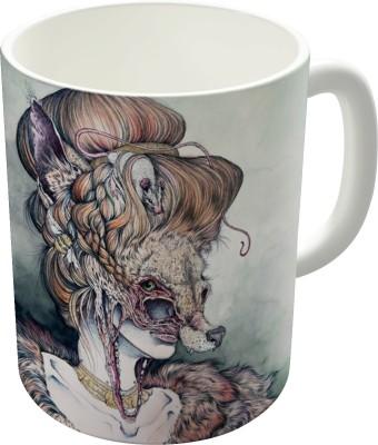Dreambolic Vulpes Masquerade Now As A Print Ceramic Mug