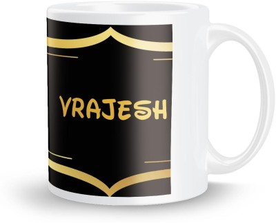 posterchacha Vrajesh Name Tea And Coffee  For Gift And Self Use Ceramic Mug