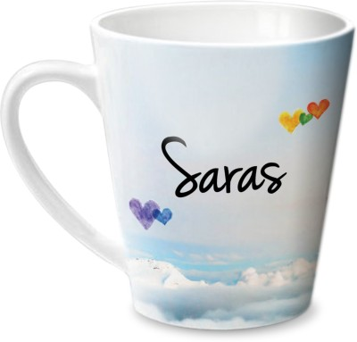 Hot Muggs Simply Love You Saras Conical  Ceramic Mug
