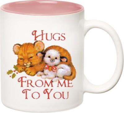 HuppmeGift Hugs Inner Pink  Ceramic Mug