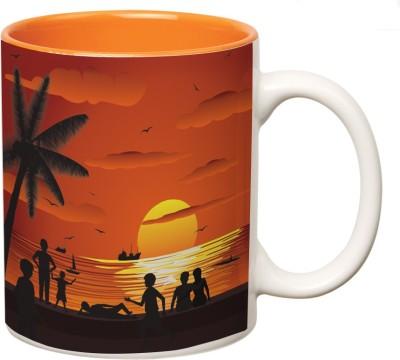 Mugwala Sun Setting Evening picture kids mug Ceramic Mug