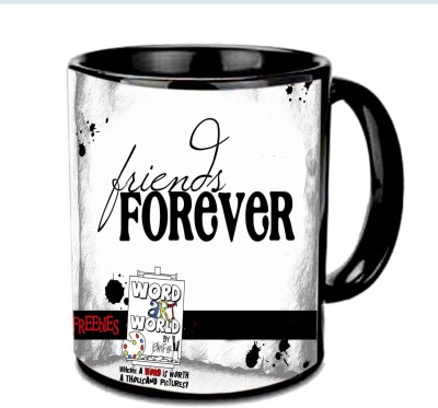 Jiya Creation1 Worlds Best Friend Multicolor Ceramic Mug