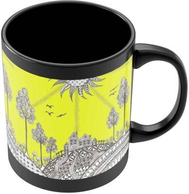 PosterGuy Hill Top Art Illustration Art Illustration Ceramic Mug