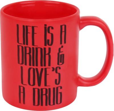 Keep Calm Desi Life is A Drink Matt  Glass Mug