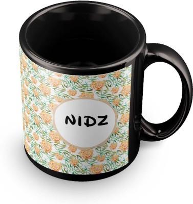 posterchacha Nidz Floral Design Name  Ceramic Mug