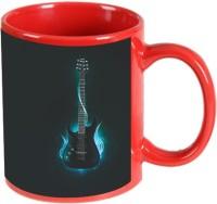 Printland Printland Guitar Red Coffee 350 - ml Ceramic Mug(350 ml) best price on Flipkart @ Rs. 349
