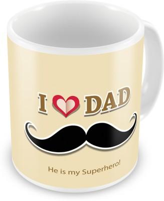 Indian Gift Emporium I Love Dad Printed Quotation Delightful Coffee  517 Ceramic Mug