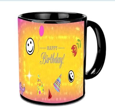 Jiya Creation1 Happy Birthday With Smile Multicolor Ceramic Mug