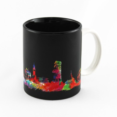 The Ringmaster Mumbai Skyline (Black) Ceramic Mug