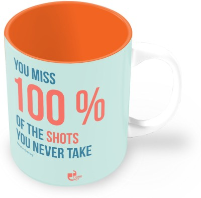 Thinkpot You Miss 100% Of The Shots You Don,t Take - Wayne Gretsky Ceramic Mug