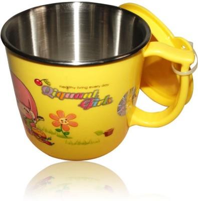 DRL DRL Yellow Girl  Plastic, Stainless Steel Mug