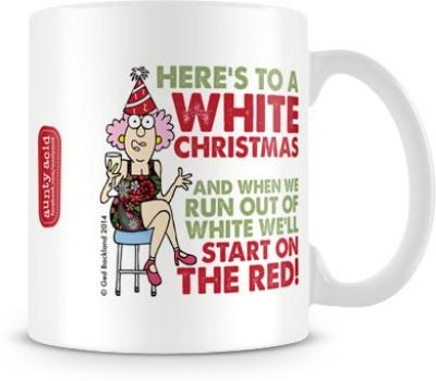 Tashanstreet Aunty Acid - White Christmas Ceramic Mug