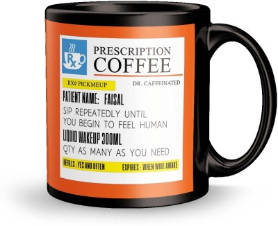 posterchacha PersonalizedPrescription Tea And Coffee  For Patient Name Faisal For Gift And Self Use Ceramic Mug