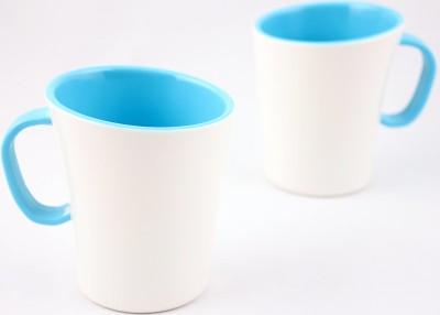 Hi Luxe Ivory Melamine 42249 Ivory - Blue Melamine Mug