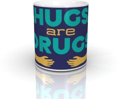 Bcreative Hugs Are Drugs Ceramic Mug
