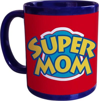 Sajawat Homes Gifts For Super Mom Blue Coffee Ceramic Mug