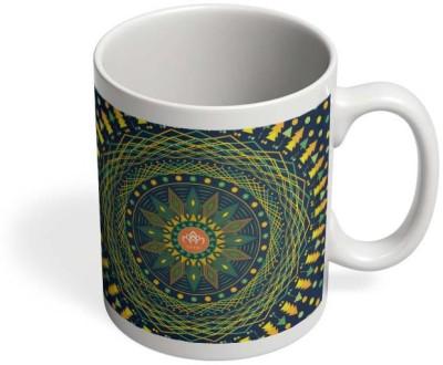 PosterGuy Padma Padma, Lotus, Geometry, Sacred, Sacred Geometry, Serene, Spiritual, Psychedelic Ceramic Mug