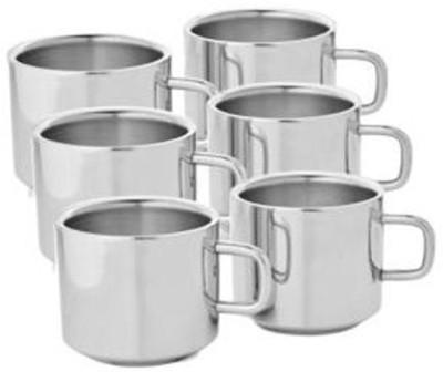 SP Steel Sp Sobar Tea Cup -103 Stainless Steel Mug(150 ml, Pack of 6)