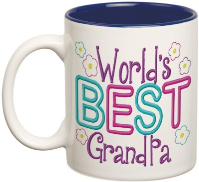 Prithish World's Best Grandpa Double Color Ceramic Mug