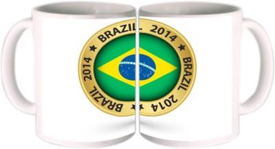 Shopkeeda FIFA 2014 Brasil FIFA Logo Ceramic Mug