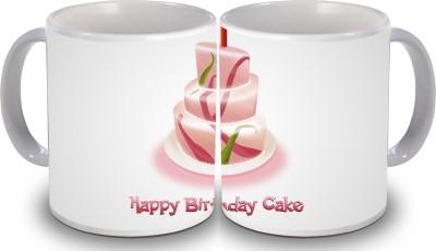Print Hello Happy Birthday Set of Two Cake 117 Ceramic Mug