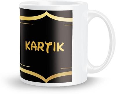 posterchacha Kartik Name Tea And Coffee  For Gift And Self Use Ceramic Mug
