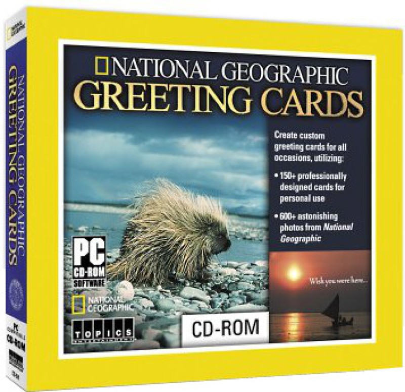Topics Entertainment National Geographic Greeting Cards(1 CD-ROM)