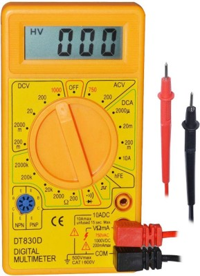 Webshoppers DT830D LCD Disply Digital Multimeter(Yellow 6000 Counts)