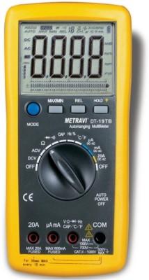 Metravi 19TB Digital Multimeter(Yellow, Black 4000 Counts)
