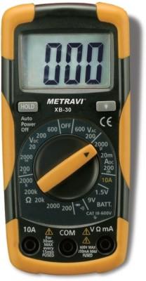 Metravi XB30 Digital Multimeter(Yellow, Black 2000 Counts)