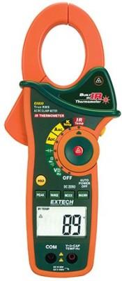 Extech EX830 Clamp Meter Digital Multimeter(Orange, Black 4000 Counts)