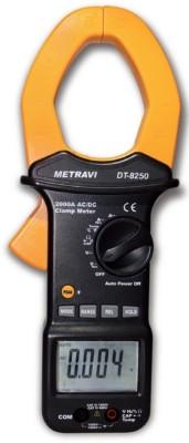 METRAVI 8250 AC/DC CLAMP METER Digital Multimeter(Black 4000 Counts)