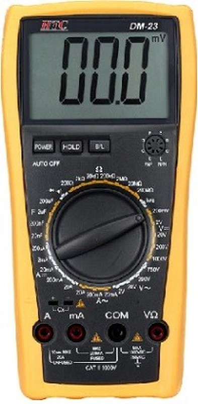 HTC DM23 Digital Multimeter(Yellow 8000 Counts)