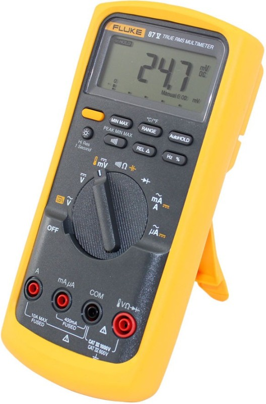 Fluke 87-5 Digital Multimeter(Yellow, Grey 6000 Counts)