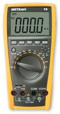 Metravi 19 Digital Multimeter(Black, Yellow 4000 Counts)