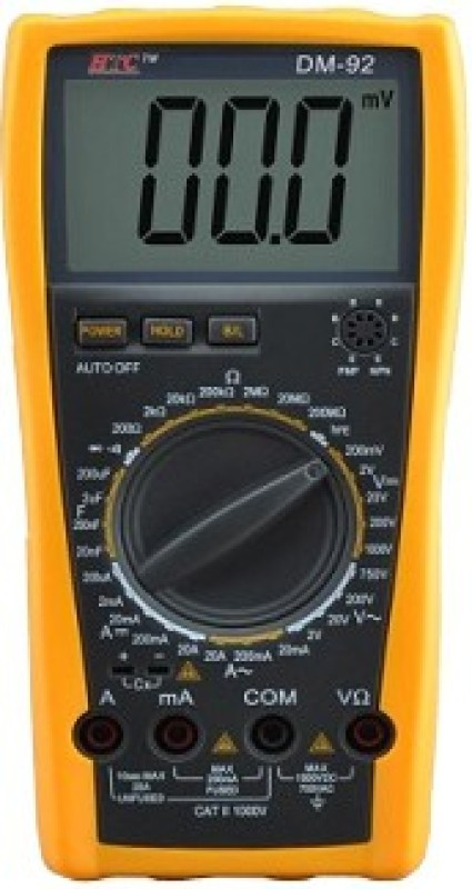 HTC DM92 Digital Multimeter(Yellow 2000 Counts)