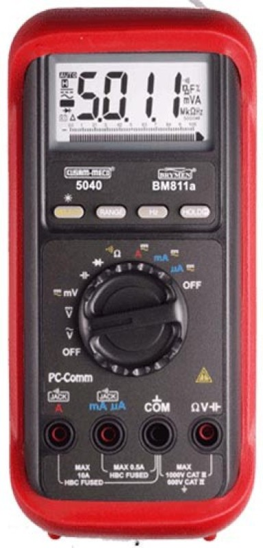 Kusam Meco KM-5040(T) Digital Multimeter(Red 4000 Counts)