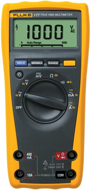Fluke 177 Digital Multimeter(Yellow, Grey 6000 Counts)