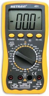 METRAVI 451 LCR Digital Multimeter(Black, Yellow 2000 Counts)